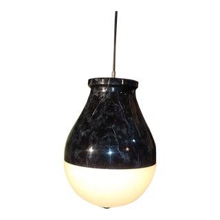 Mid Century Enameled Pendant Lamp