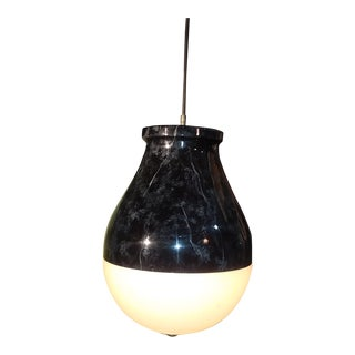 Two Mid Century Enameled Pendant Lamp For Sale