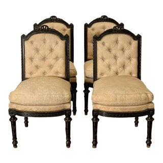 Late 19th Century French Napoleon III Style Chairs - Set of 4 For Sale