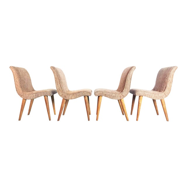 Russel Wright Scoop Dining Chairs - Set of 4 For Sale