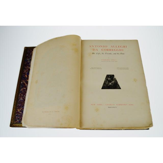 """1896 Antique """"Da Correggio Antonio Allegri Da Correggio His Life, His Friends, And His Time"""" Book For Sale In Philadelphia - Image 6 of 10"""