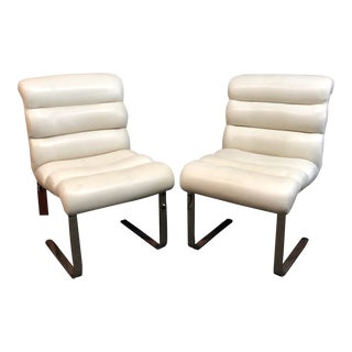 Mid-20th Century Frank Mariani Pace Collection Laguna Cantilever Chairs, Set of Two For Sale