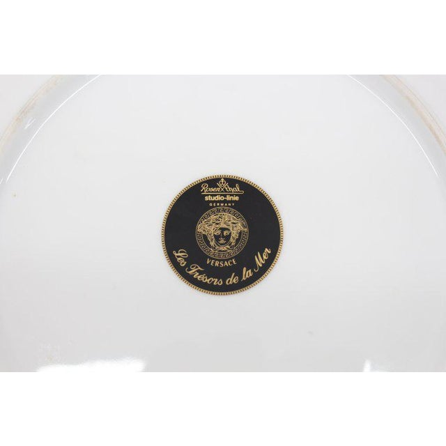 Rosenthal Versace Porcelain Charger Plate For Sale - Image 4 of 7