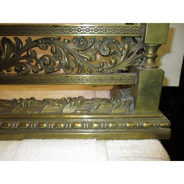 French Style Bronze Fire Fender For Sale - Image 4 of 8