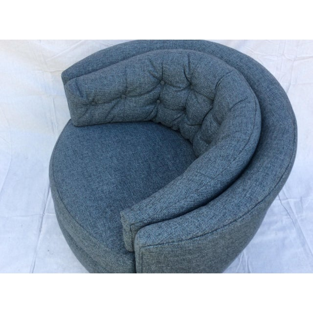 Mid Century Barrel Swivel Chair For Sale In Los Angeles - Image 6 of 12