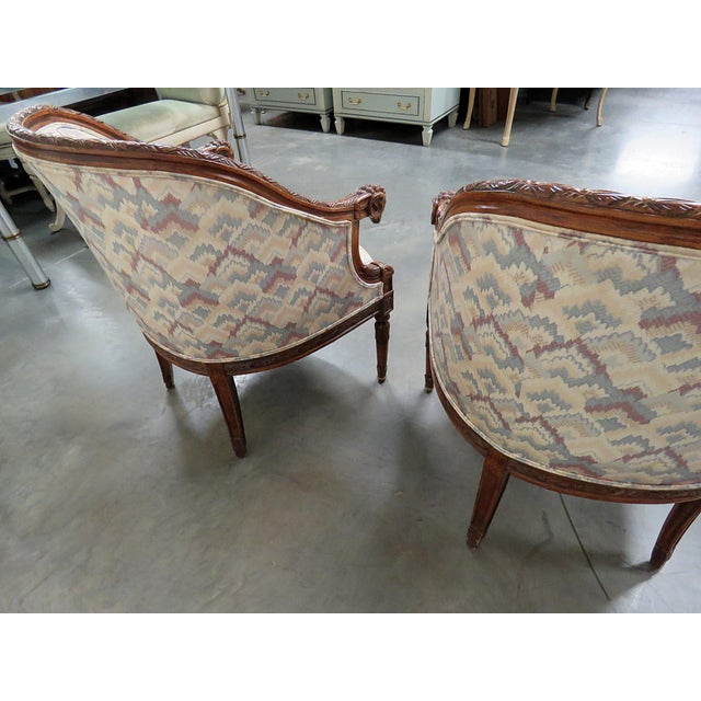Regency Style Club Chairs - a Pair For Sale - Image 11 of 13