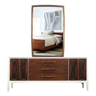 1960s Broyhill Emphasis Bedroom Dresser & Mirror For Sale