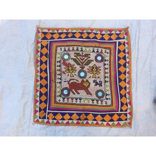 Tribal Vintage Beaded Indian Tribal Wall Hanging For Sale - Image 3 of 8