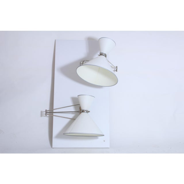 White Multi Articulated Lunel Sconces For Sale - Image 8 of 8