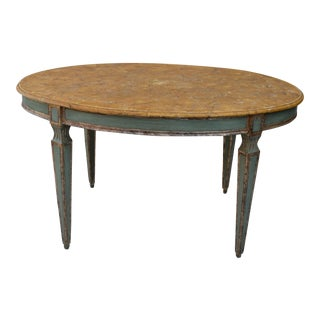 Late 19th Century Venetian Faux Marble Oval Table