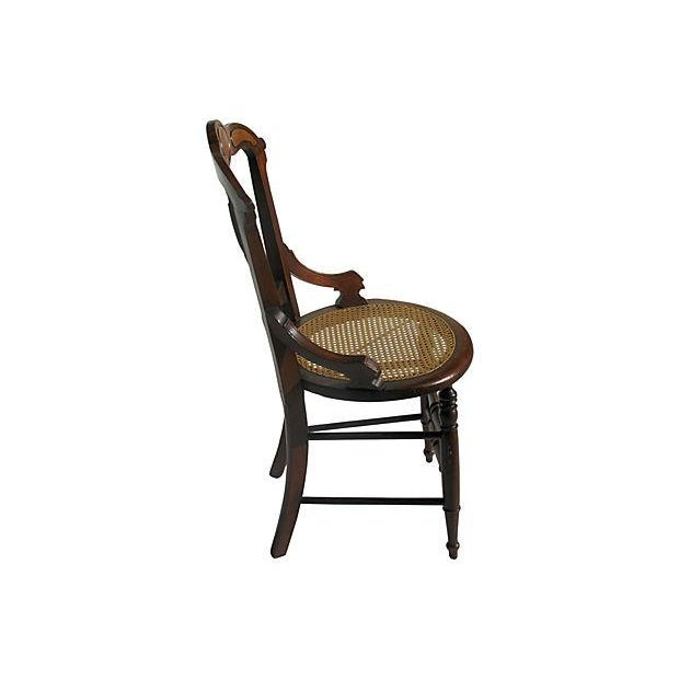 French Art Nouveau Style Chairs W/Cane Seats - S/4 - Image 4 of 7