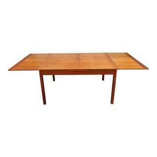Late 20th Century Danish Modern Teak Dining Table For Sale