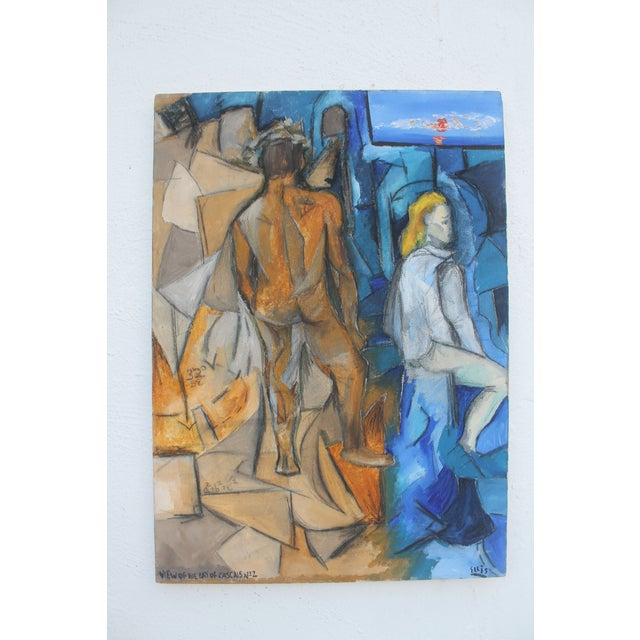 Ellis Mid-Century View Of The Bay Of Cascais N-2 Figural Painting - Image 10 of 10