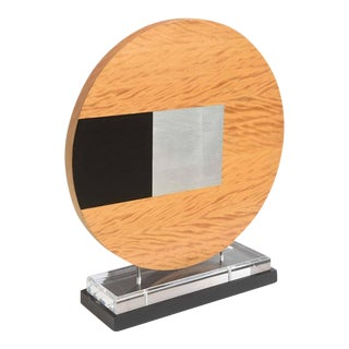 American Abstract Wood Sculpture on Stand, Pascal Pierme For Sale