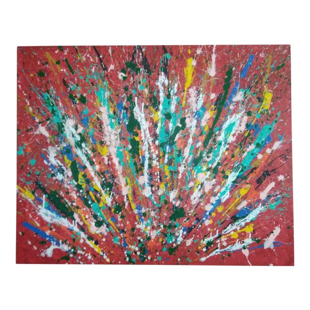 Abstract Expressionism Painting of Peacock For Sale