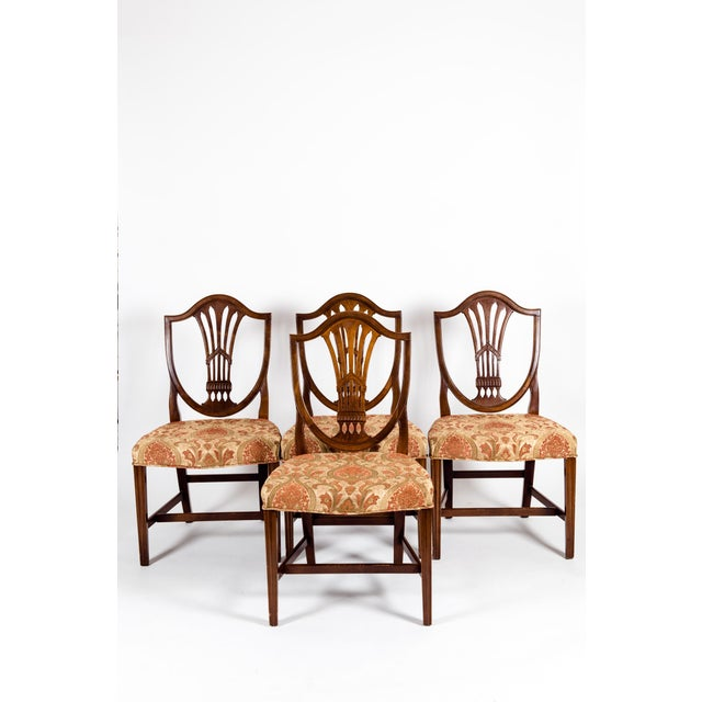Solid Mahogany Wood Shield Back Dining Chairs - Set of 4 For Sale - Image 12 of 13
