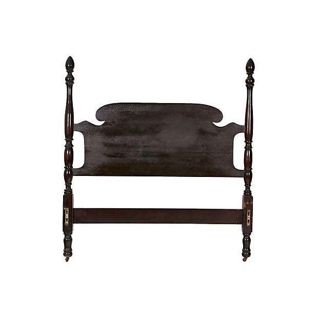 Vintage Mahogany Twin Bed Frame | Chairish