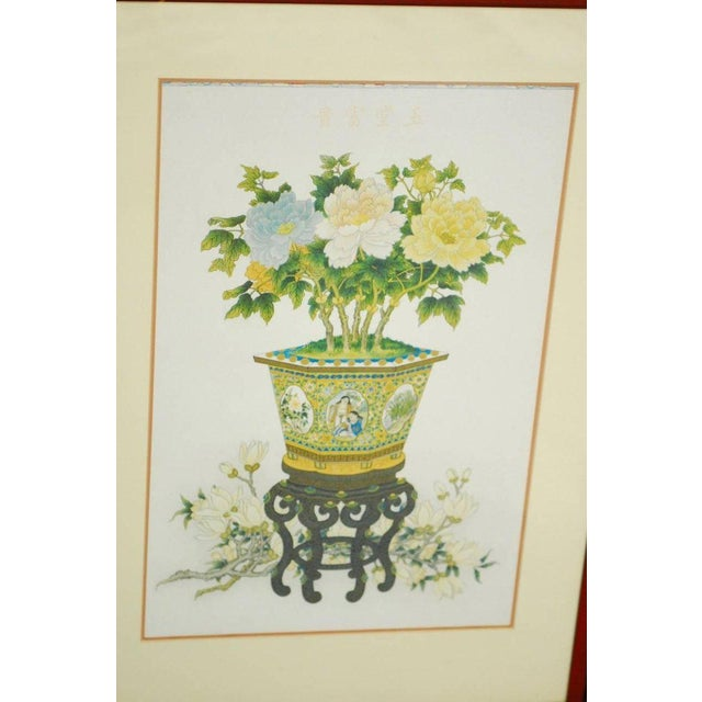 Mid-Century Modern Pair of Chinese Flora and Foliate Still Life Prints For Sale - Image 3 of 10