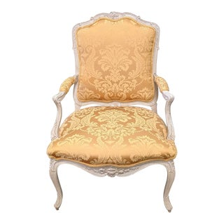 Late 20th Century Vintage Baker Louis XVI Style French Provincial Arm Chair For Sale