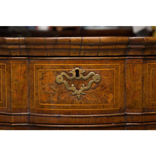 18th Century Dutch Walut Marquetry Chest - Image 9 of 11
