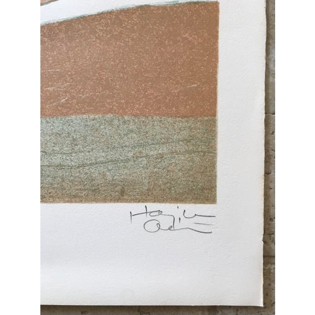 Abstract 1970s Abstract Composition Lithograph - Signed For Sale - Image 3 of 5