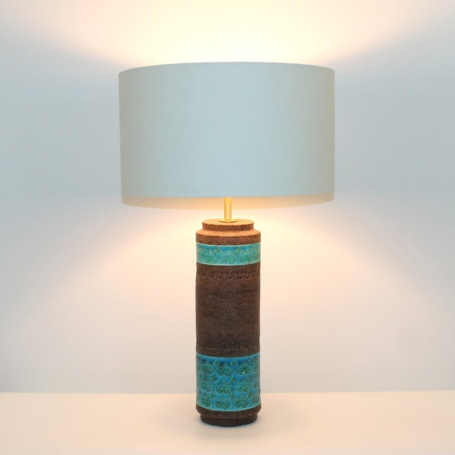 Mid-Century Bitossi Raymor Ceramic Lamp For Sale - Image 9 of 9