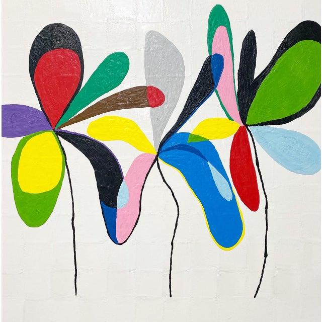 "Wood Exclusive John O'Hara ""Fp 67, 2"" Encaustic Painting For Sale - Image 7 of 10"