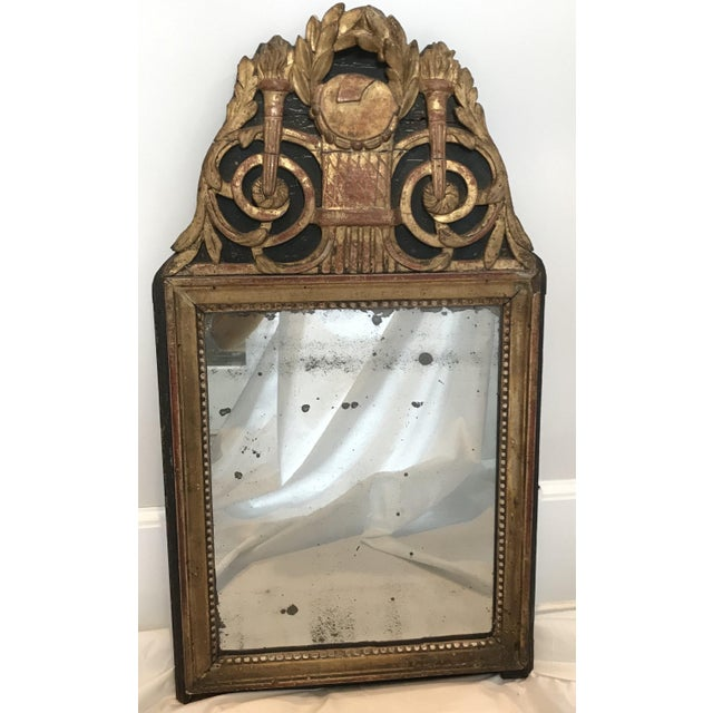 18th Century Carved Giltwood French Mirror For Sale In Portland, ME - Image 6 of 6