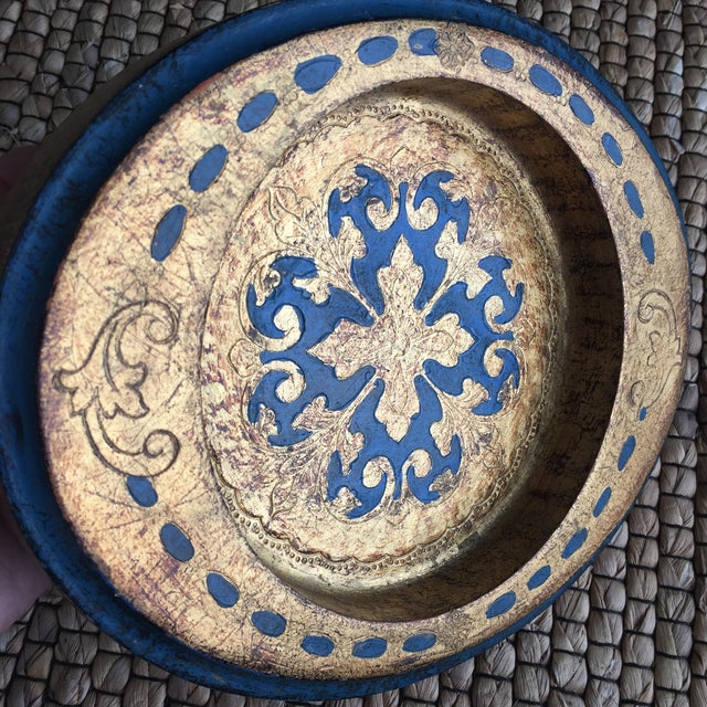 Made in Italy Florentine Small Tray Wooden Dish - Image 5 of 10