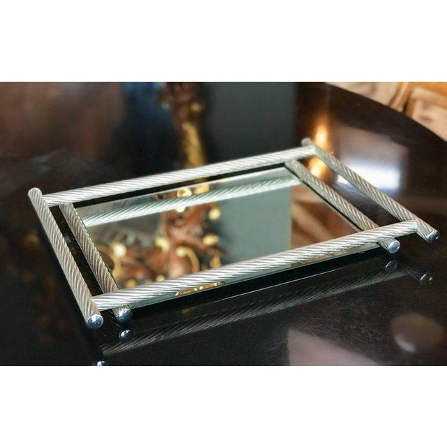 Italian Rectangular Tray with Spiral Silver Frame, 1960s For Sale In Los Angeles - Image 6 of 8