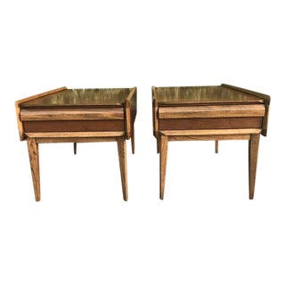 Andre Bus for Lane Furniture Mid Century Nightstands - a Pair For Sale