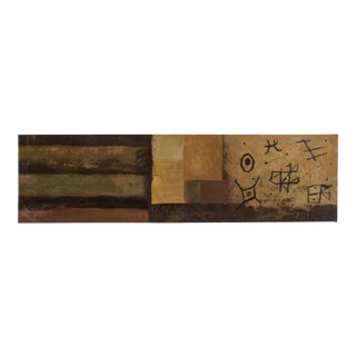 """Vintage 72"""" Abstract Modernist Oil on Canvas Painting For Sale"""