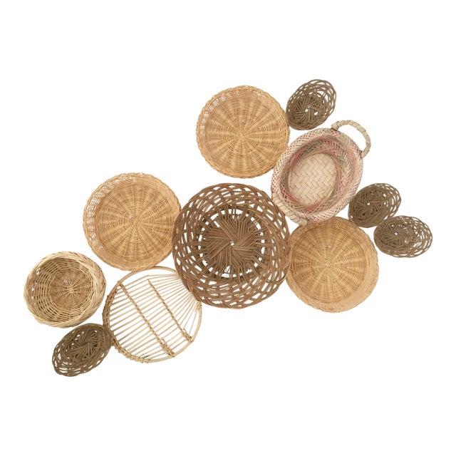 Boho Chic Wall Hanging Baskets - Set of 11 - Image 1 of 3