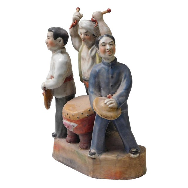 Asian Chinese Cultural Revolution Ceramic Figurine For Sale - Image 3 of 6