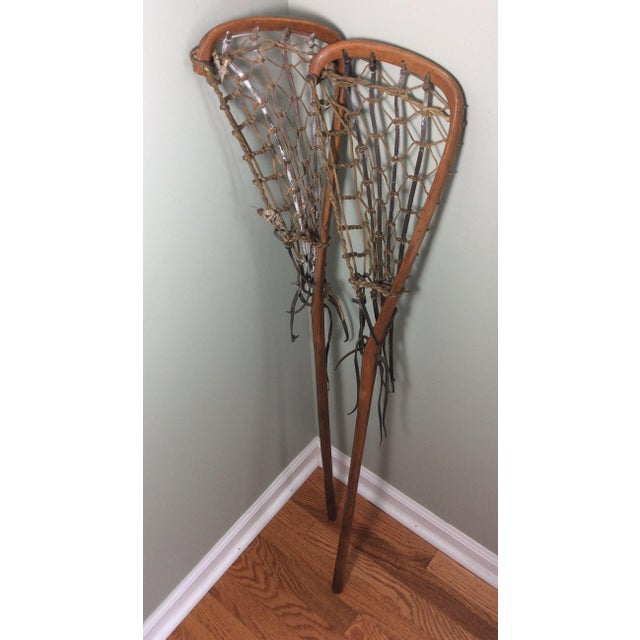 One Vintage Wood and Leather Lacrosse Stick - *** Only One Left**** For Sale In Philadelphia - Image 6 of 7