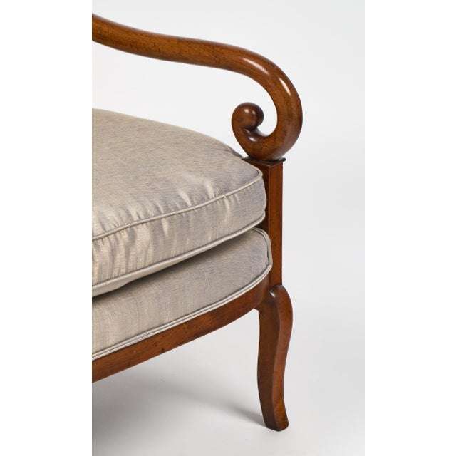 19th Century French Restauration Period Walnut Armchair - Image 11 of 11