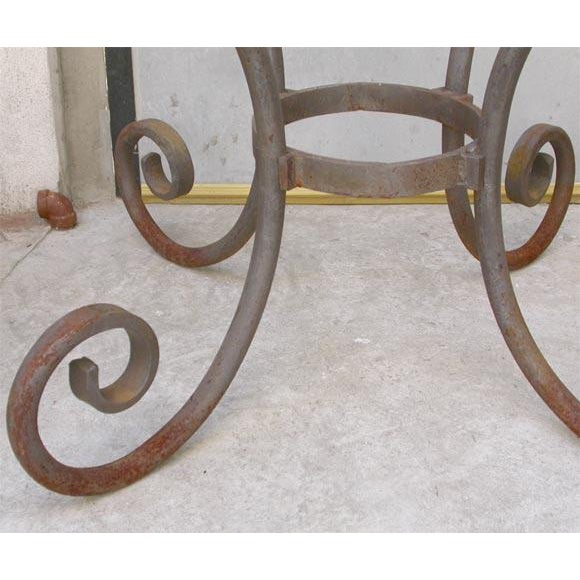 French Wrought Iron Oval Table Base - Image 3 of 7