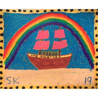 'Hms Pinafore' Oil Pastel Drawing by Sean Kratzert For Sale