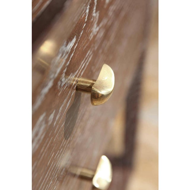 Paul Marra Paul Marra Ceruse Oak Two-Tier Nightstand For Sale - Image 4 of 10