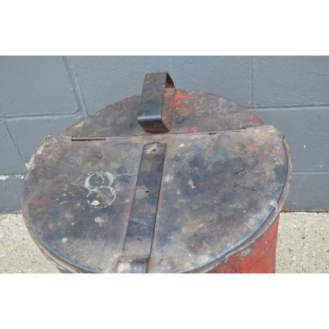 Industrial Rag Bin with Hinged Lid - Image 8 of 10