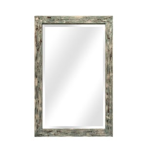 Traditional French Blue Wood Lobby Leaner Mirror For Sale