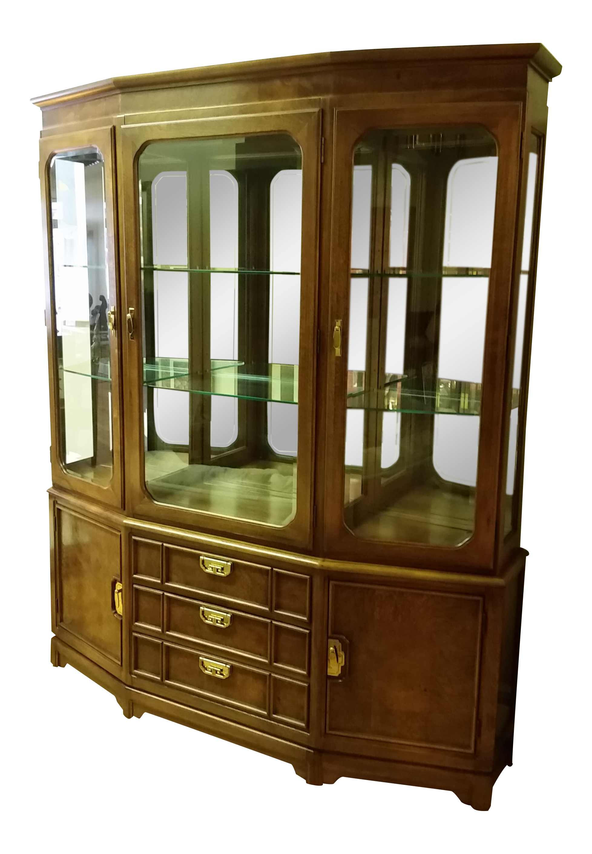 Exceptionnel 1980s Thomasville Campaign Style China Cabinet