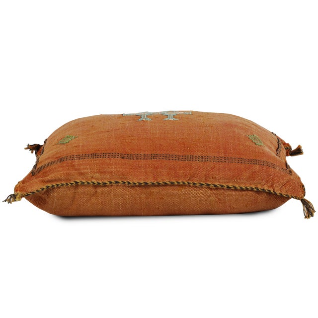 Contemporary Orange Sabra Pillow For Sale - Image 3 of 5