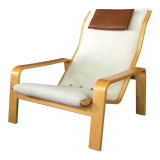 1960s Scandinavian Modern Ilmari Lappalainen Pulkka Lounge Chair For Sale