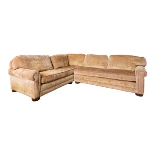 Modern Traditional Styled Rolled Arm Sofa For Sale
