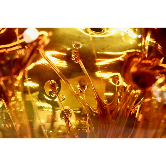Peter Bramhall Vintage Art Glass Ball For Sale - Image 9 of 10
