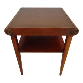 Stickley Scroll Top Side Table