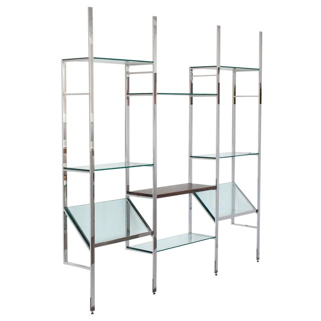 Milo Baughman Wall Mounted Shelving System - Image 1 of 10