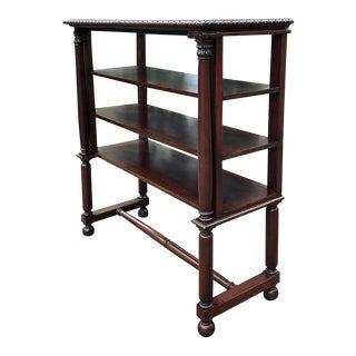 19th Century English Mahogany Bookshelf For Sale