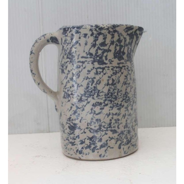 Mid 19th Century 19th Century Spongeware Pottery Speckled Pitcher For Sale - Image 5 of 8